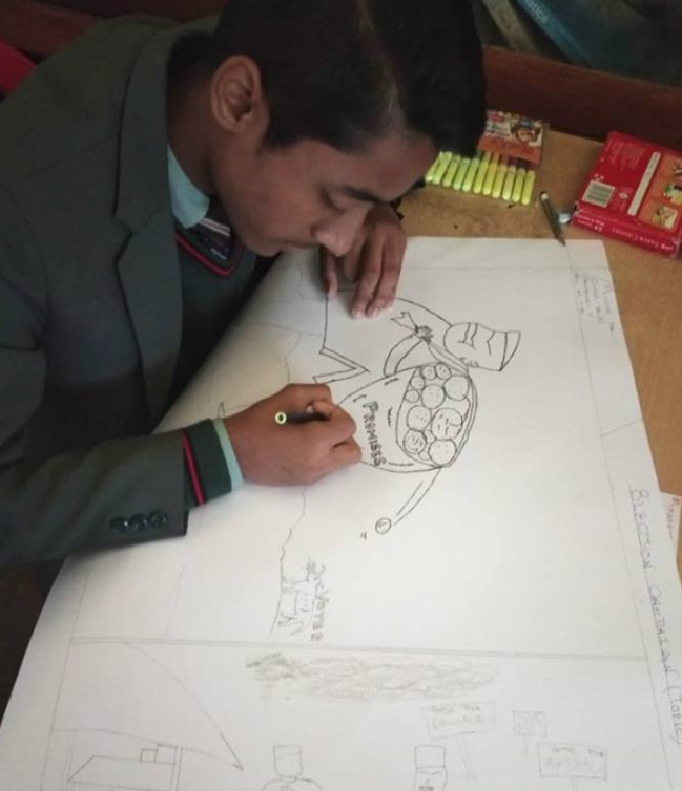The Electoral literacy Club of Namchi Sr. Sec. School held a painting competition