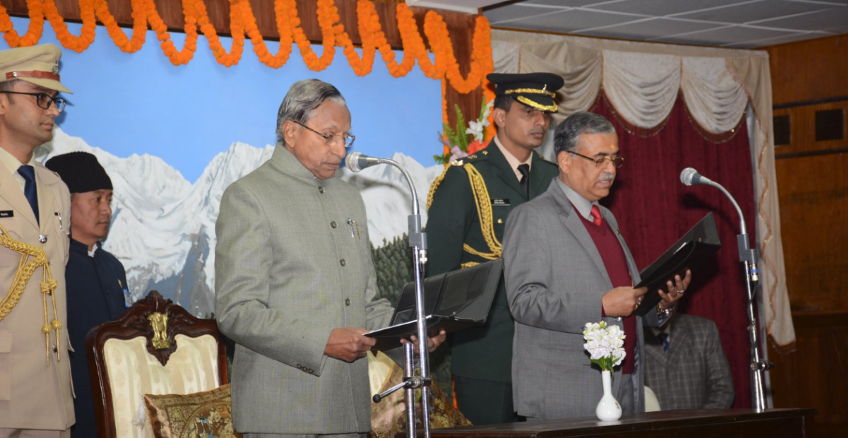 Shri Chewan Prasad Dhakal, Retired Secretary to the Government of Sikkim, was sworn in as the State Information Commissioner of Sikkim at a function held at Ashirwad Hall, Raj Bhawan