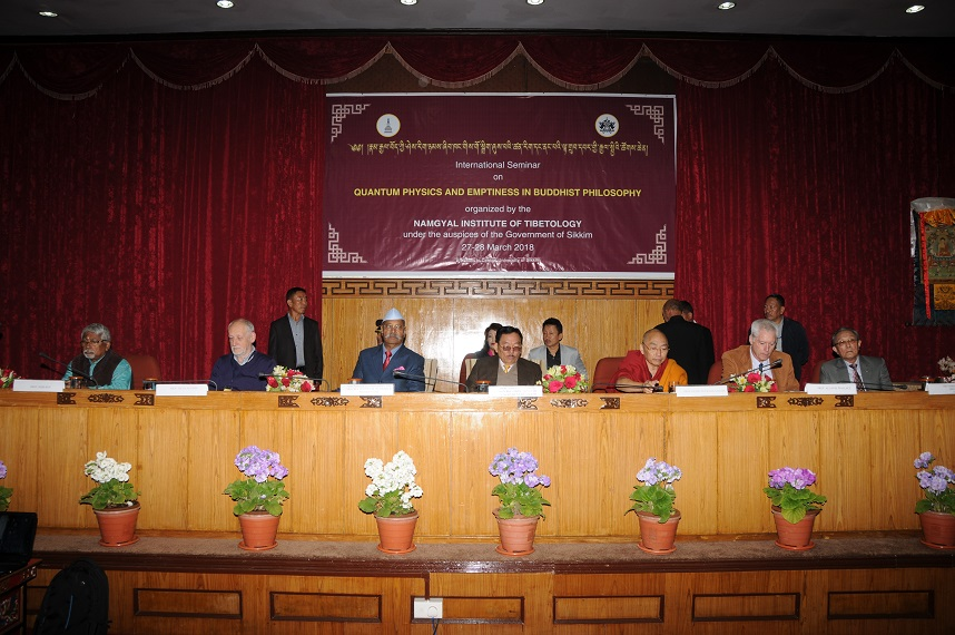 MARCH 2018 INTERNATIONAL SEMINAR  AT NAMGYAL INSTITUTE OF  TIBETOLOGY AT CHINTAN BHAWAN ON  28.3.2018