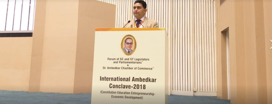 Health Minister Mr Arjun Kumar Ghatani chaired a plenary and valedictory session of two days International Ambedkar Conclave at Vigyan Bhawan, New Delhi
