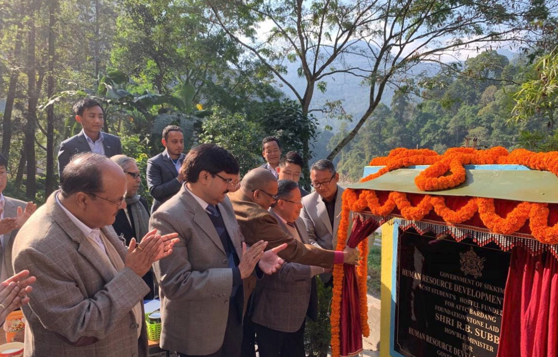 HM HRDD Lays the Foundation Stone of SC/ST Students Hostel at ATTC, Bardang