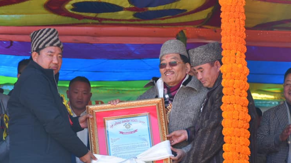 HCM celebrates Gurung Tamu Lochar at Sheep Farm, Dentam Bega, West Sikkim