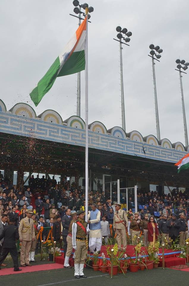 70th Republic Day was celebrated at Paljor Stadium