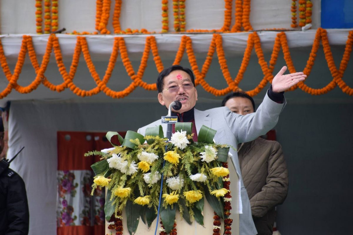 Chief Minister Shri. Pawan Chamling attended the Janta Mela at Jorethang