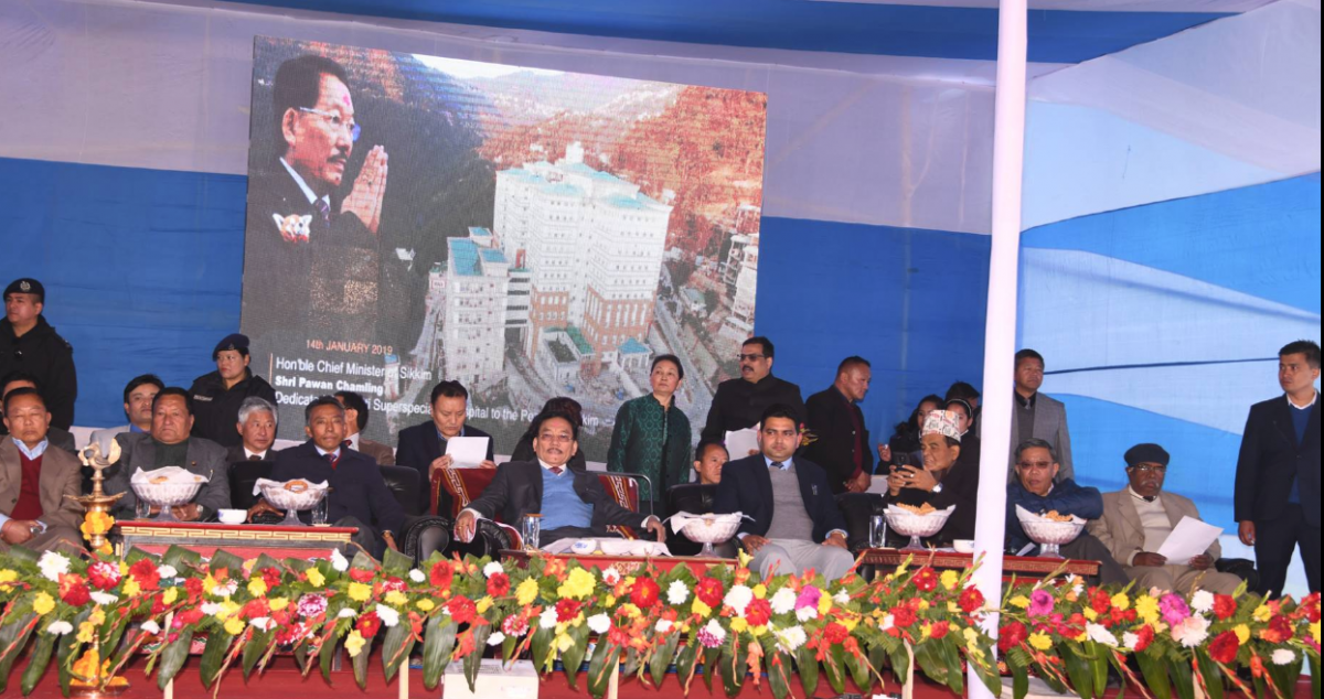 Chief Minister Shri Pawan Chamling inaugurated the 1000 bedded Multi Speciality Government Hospital