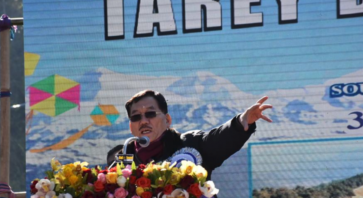 HCM Shri. Pawan Chamling wished joy and prosperity for everyone on the occassion of new year while inaugurating the three day long Tarey Bhir Kite Fiesta at Sadam