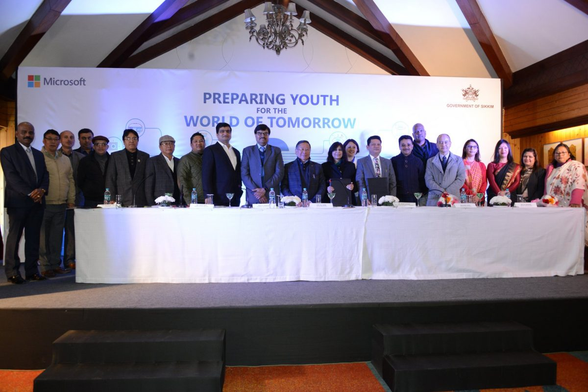 State HRDD & Microsoft India sign MoU for transforming educational landscape in the State