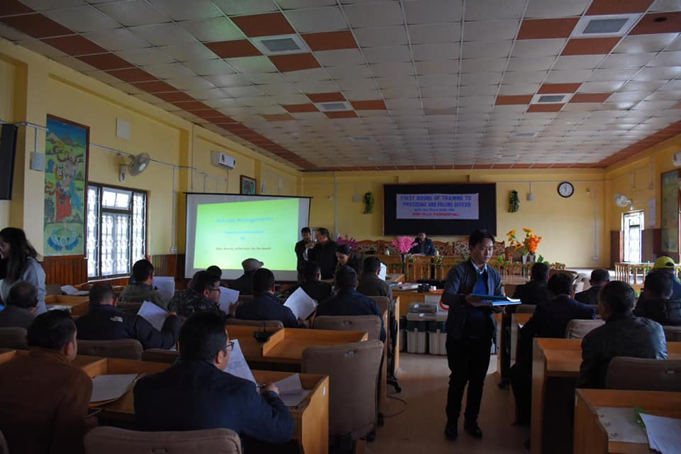 Training for Presiding Officers and first Polling Officers commences in West Sikkim