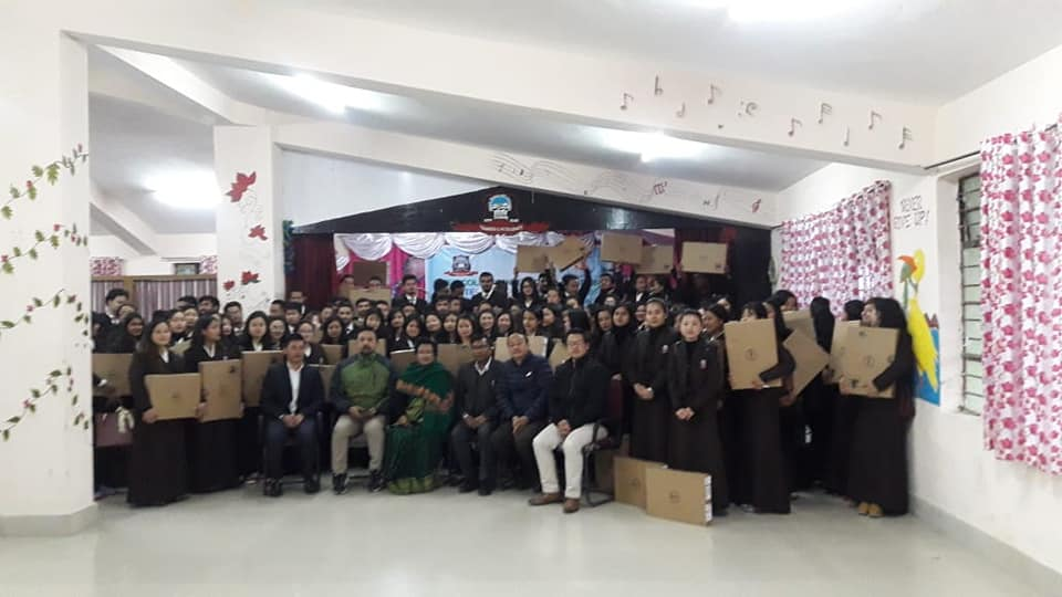 HRDD distributes 544 laptops at Chakung Science College and Soreng B. Ed. College