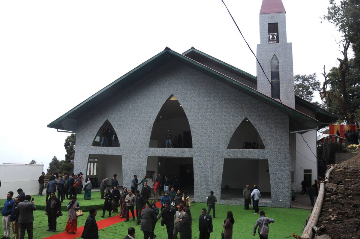 Hon'ble Chief Minister Shri Pawan Chamling today inaugurates Evangelical Presbyterian Church of Sikkim