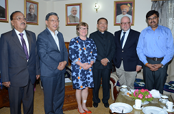 CALL ON BY THE FINLAND AMBASSADOR TO H.C.M AT MINTOKGANG ON 24.5.2017
