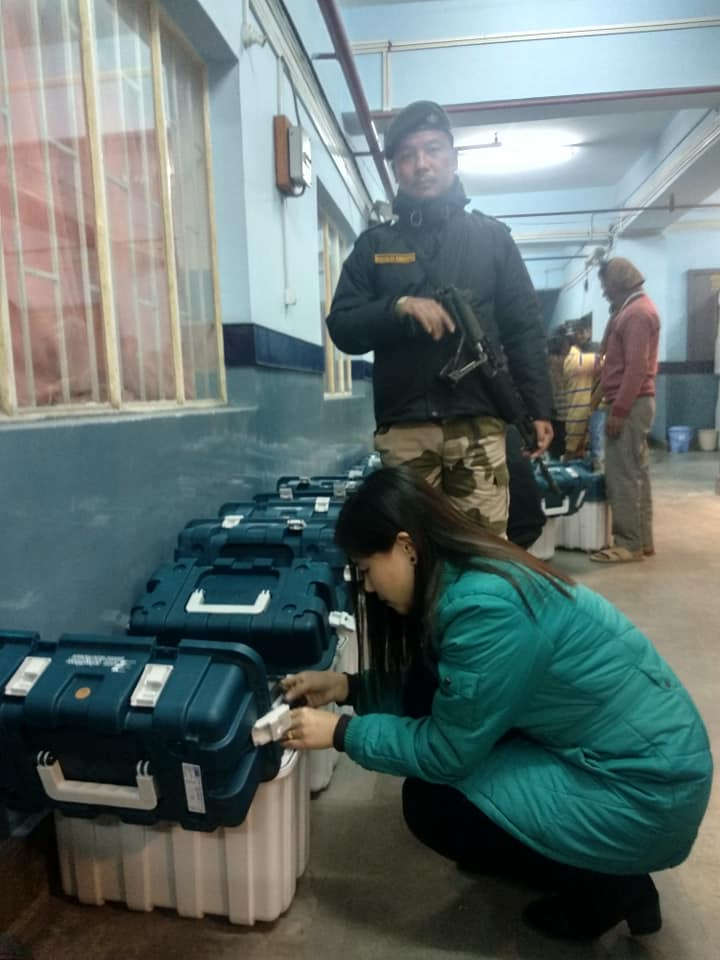 EVM VVPAT Units Shifted From East District Warehouse In Gangtok To West, South And North District Warehouses