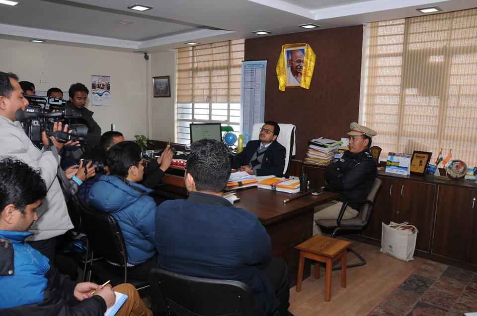 Press meeting to brief about the implementation of the Model Code of Conduct