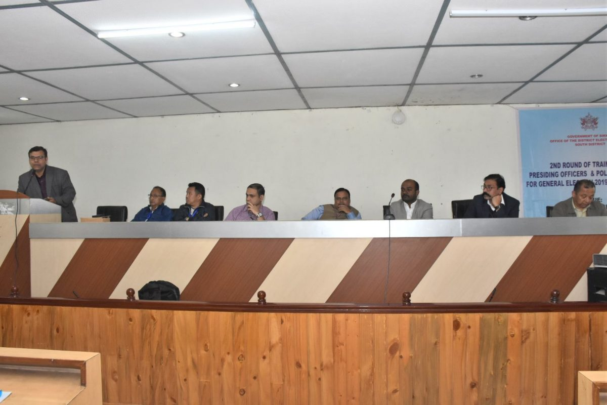 Meeting with regards to expenditure monitoring held in Namchi DAC