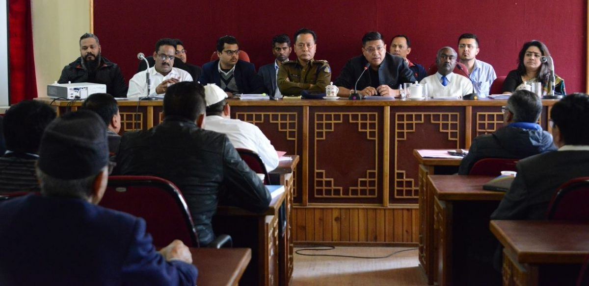 General Observers hold meet with contesting candidates & representatives of political parties at Sichey