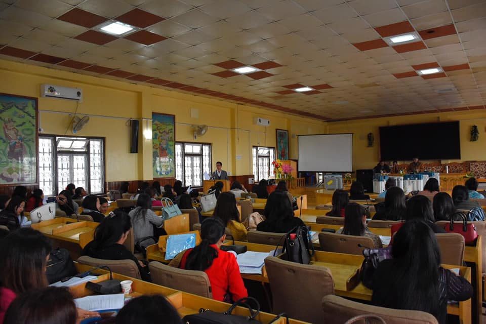 Final round of briefing of polling personnel (women) conducted in Gyalshing
