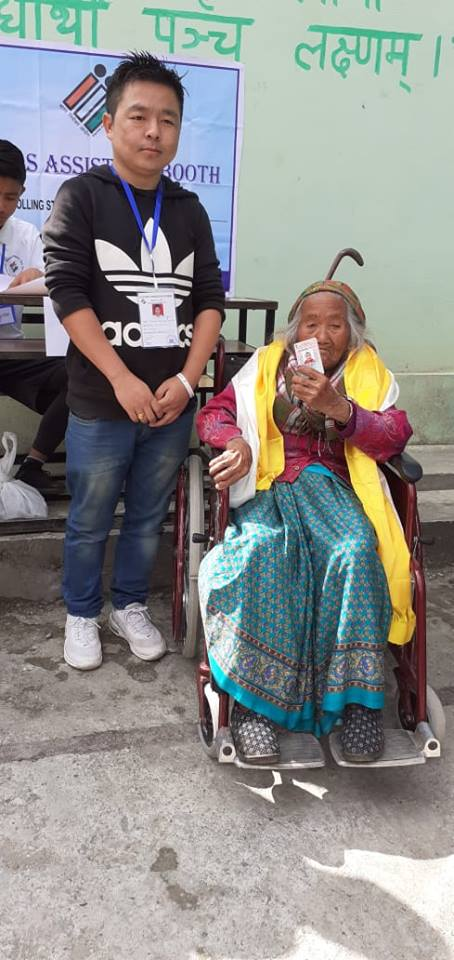 Oldest Voter of Sikkim cast her franchise today
