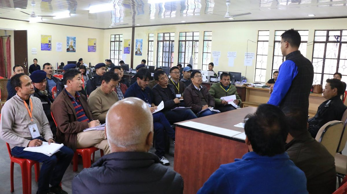 Meeting held with SMs and SPOs of North district at Mangan DAC
