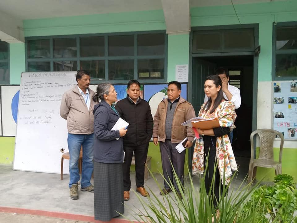 Accessiblity Observer visits Polling Stations of West Sikkim