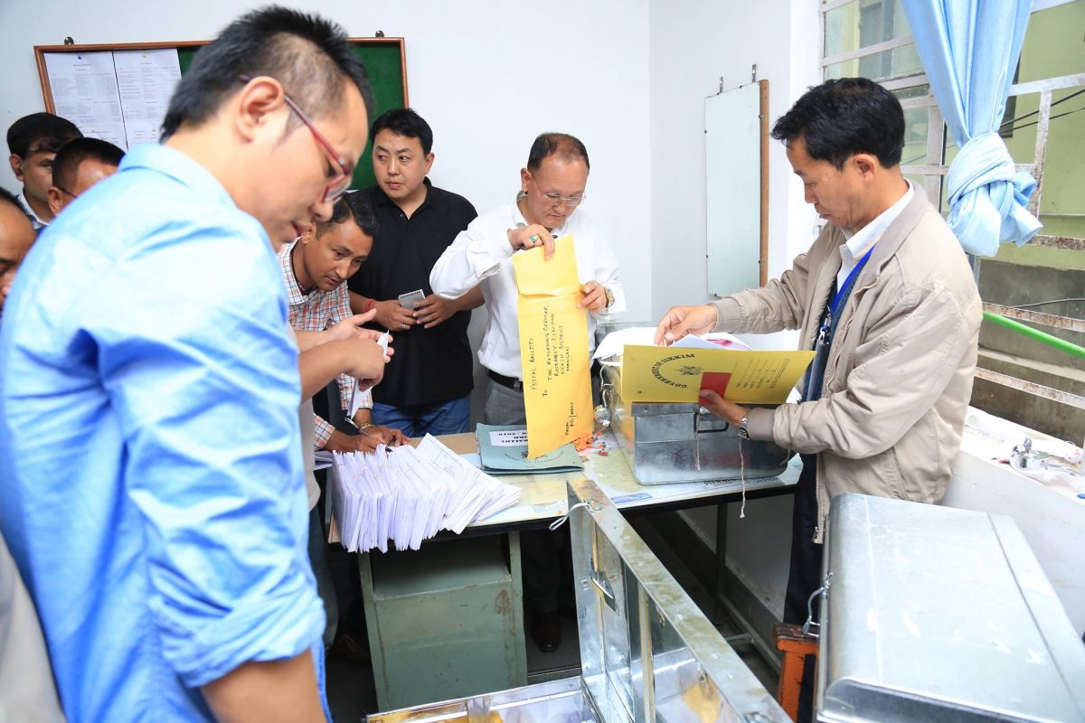 Exchange of postal ballots conducted at Singtam Police Station
