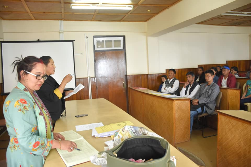 Coordination Meeting cum counselling for parents and students for admissions for Kasturba Gandhi Balika Vidyalaya (KGBV) held at DAC, West Sikkim