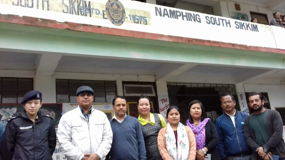PO, Sikkim inspects three Polling Stations under 14- Temi Namphing constituency