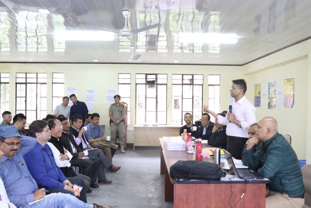 Second round briefing on Counting of Votes to the Officers who have been entrusted with counting task was held at conference hall of District Administrative Centre, Mangan