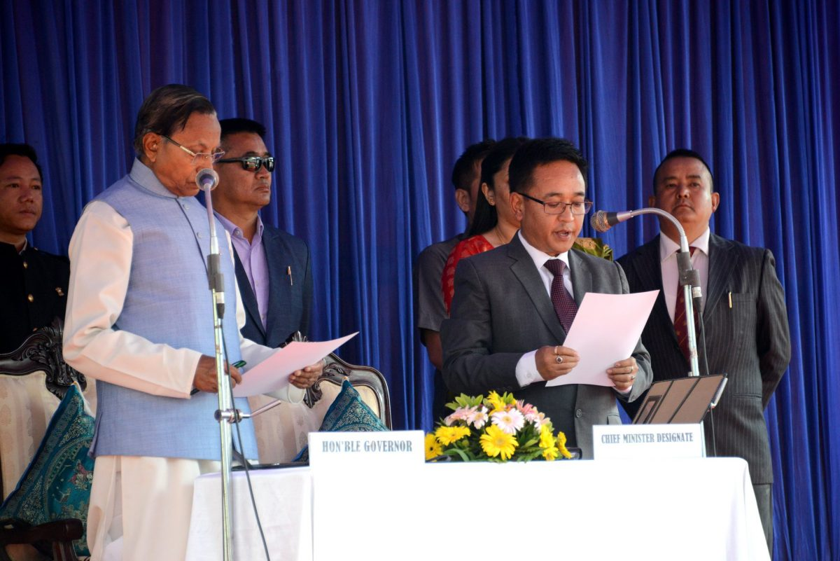 Prem Singh Tamang (Golay) sworn in as the new Chief Minister of Sikkim