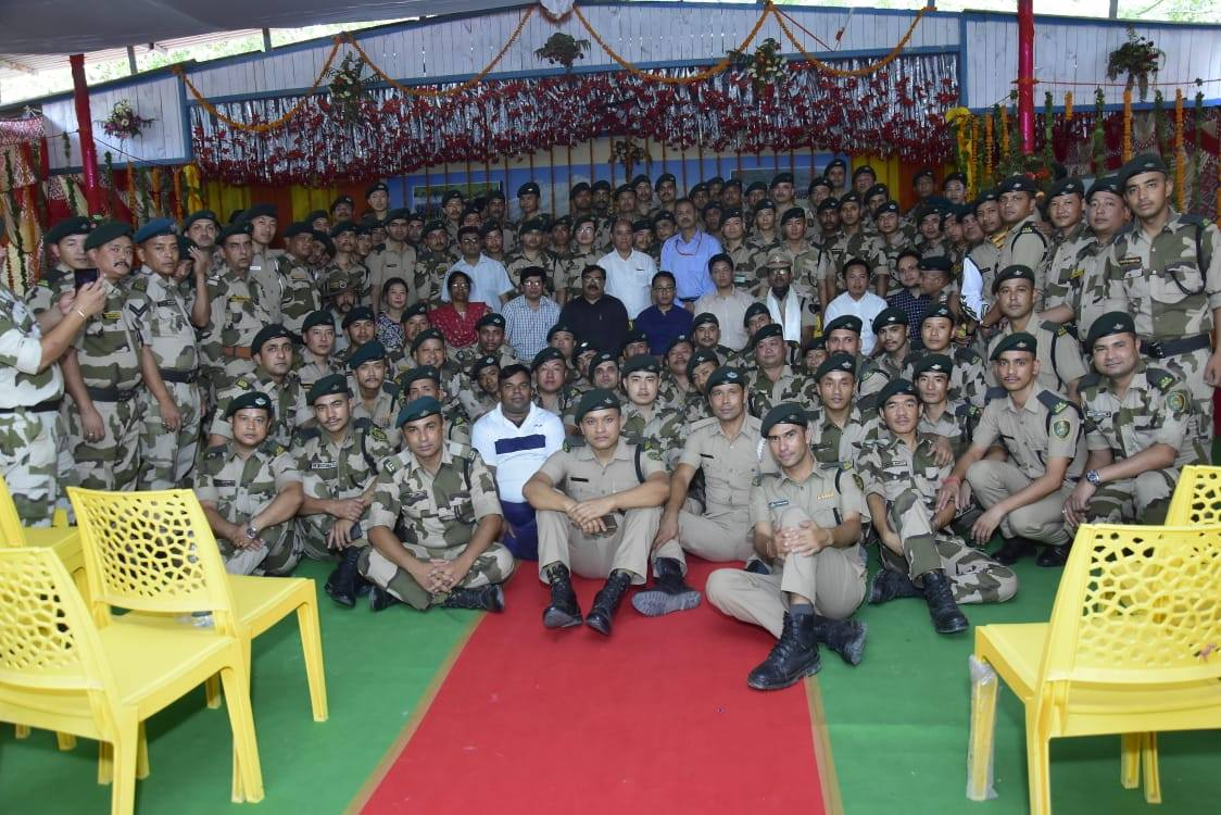 Hon'ble Chief Minister Shri P.S. Golay visits IRBn Camp at Delhi