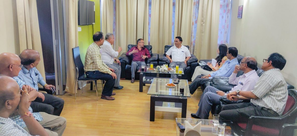 Hon'ble Minister Mingma N. Sherpa interacts with Power Grid Corporation officials