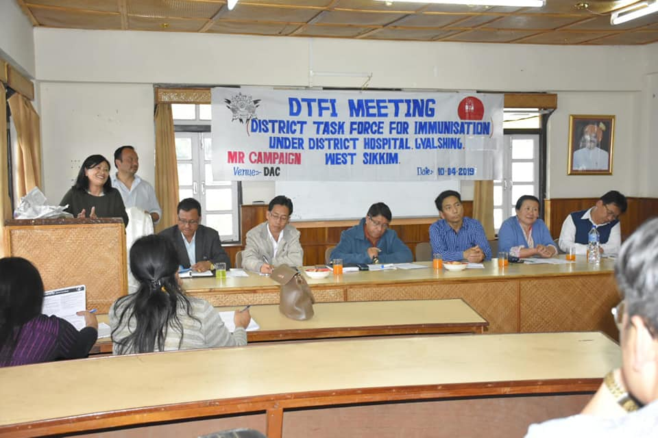 DTFI for Measles-Rubella vaccination campaign '19 held at Gyalshing DAC