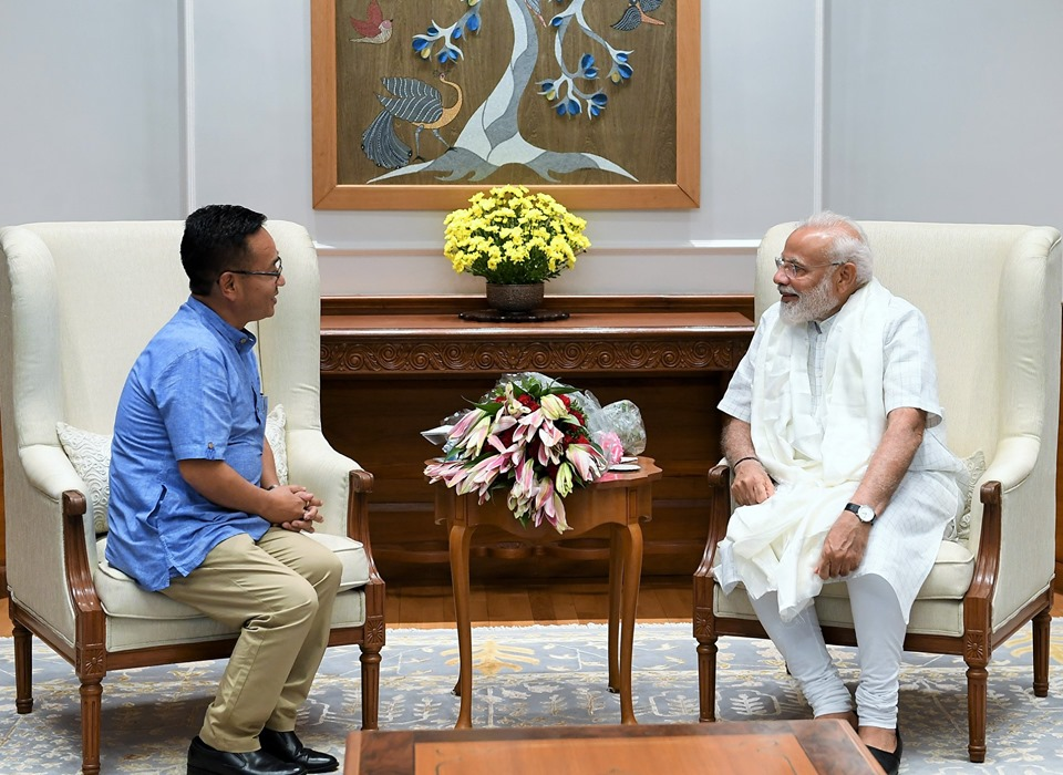 Hon'ble Chief Minister Shri P.S. Golay made a courtesy call to the Hon'ble Prime Minister Shri Narendra Modi