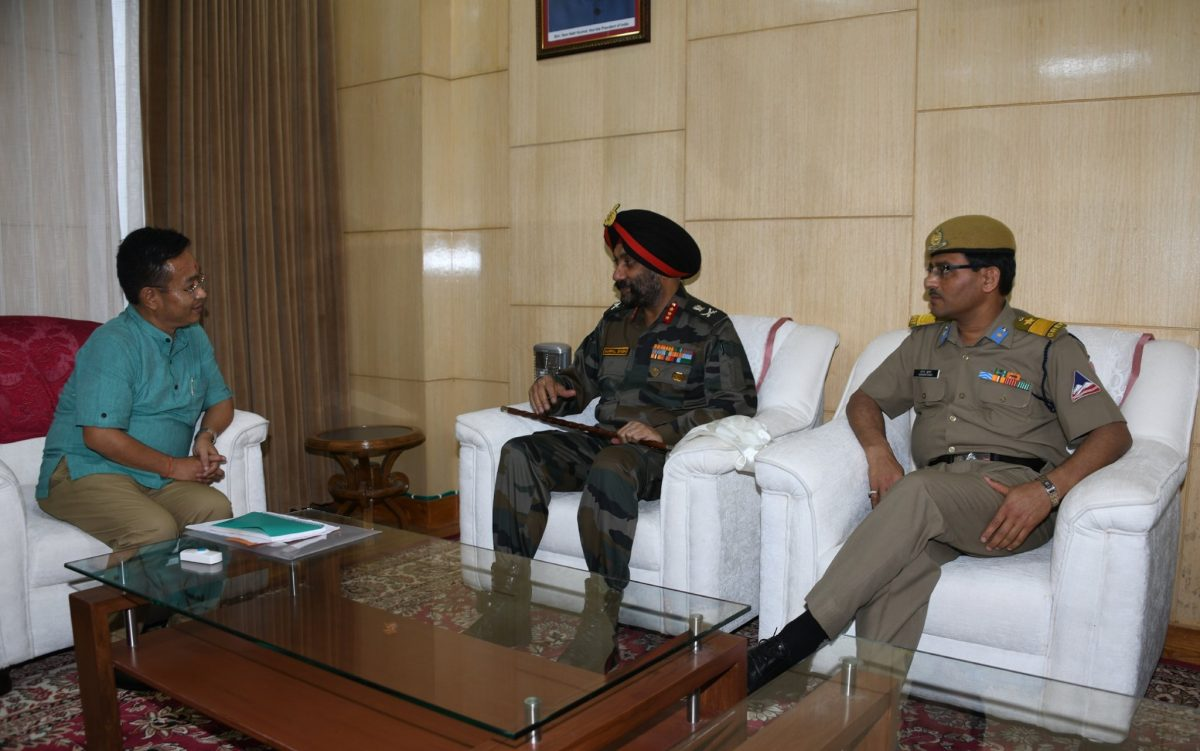 Director General of Border Roads calls on Hon'ble Chief Minister