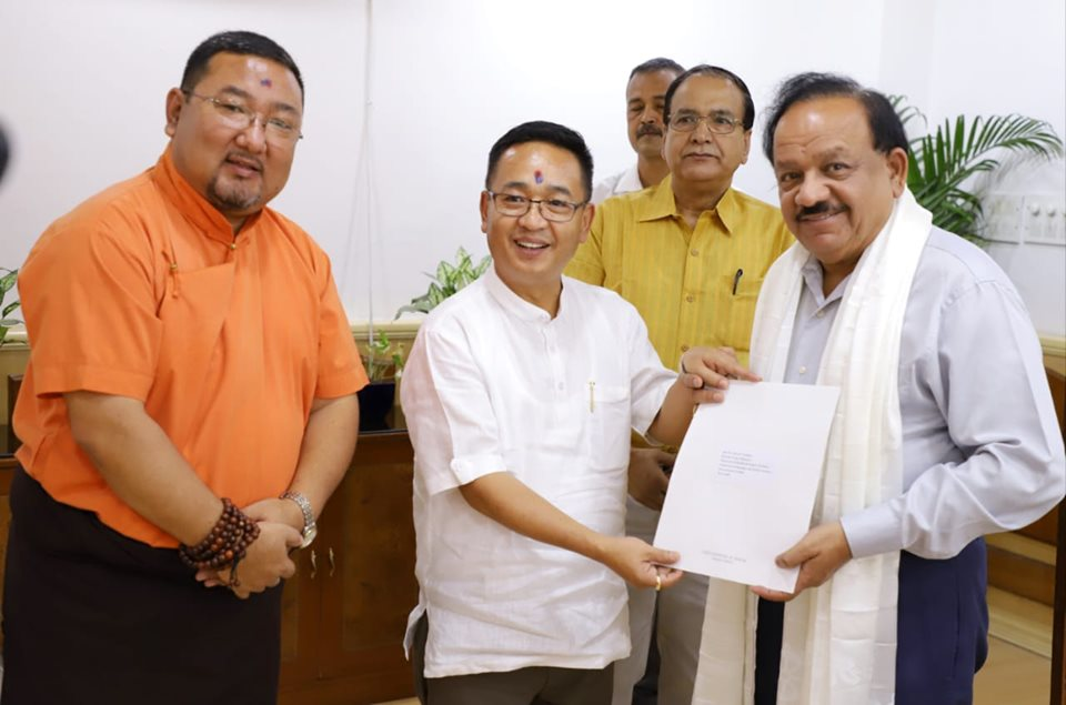 Hon'ble Chief Minister meets Hon'ble Union Minister for Health & Family Welfare