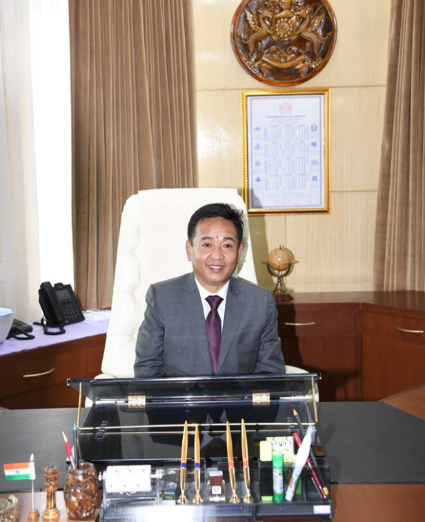 NEW CHIEF MINISTER OF SIKKIM, MR. PREM SINGH TAMANG (GOLAY) TAKES CHARGE OF OFFICE AT TASHILING SECRETARIAT ON 27.05.2019