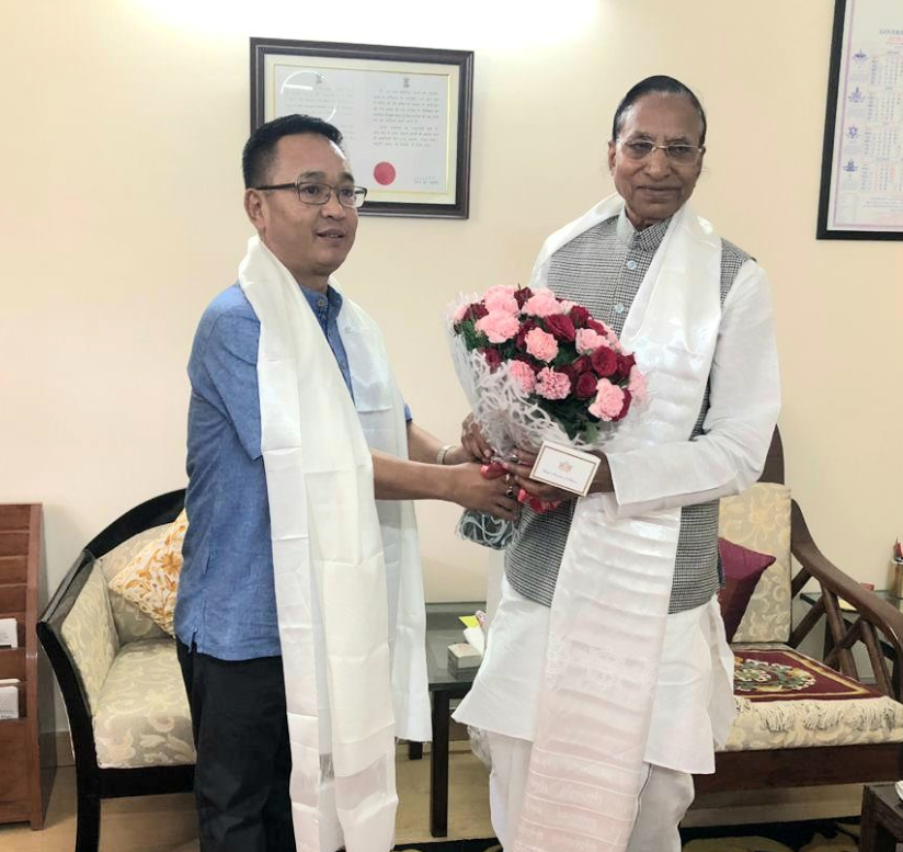 HON'BLE CHIEF MINISTER SHRI P.S GOLAY CALLS ON THE HON'BLE GOVERNOR OF SIKKIM SHRI GANGA PRASAD AT OLD SIKKIM HOUSE ON 14.06.2019