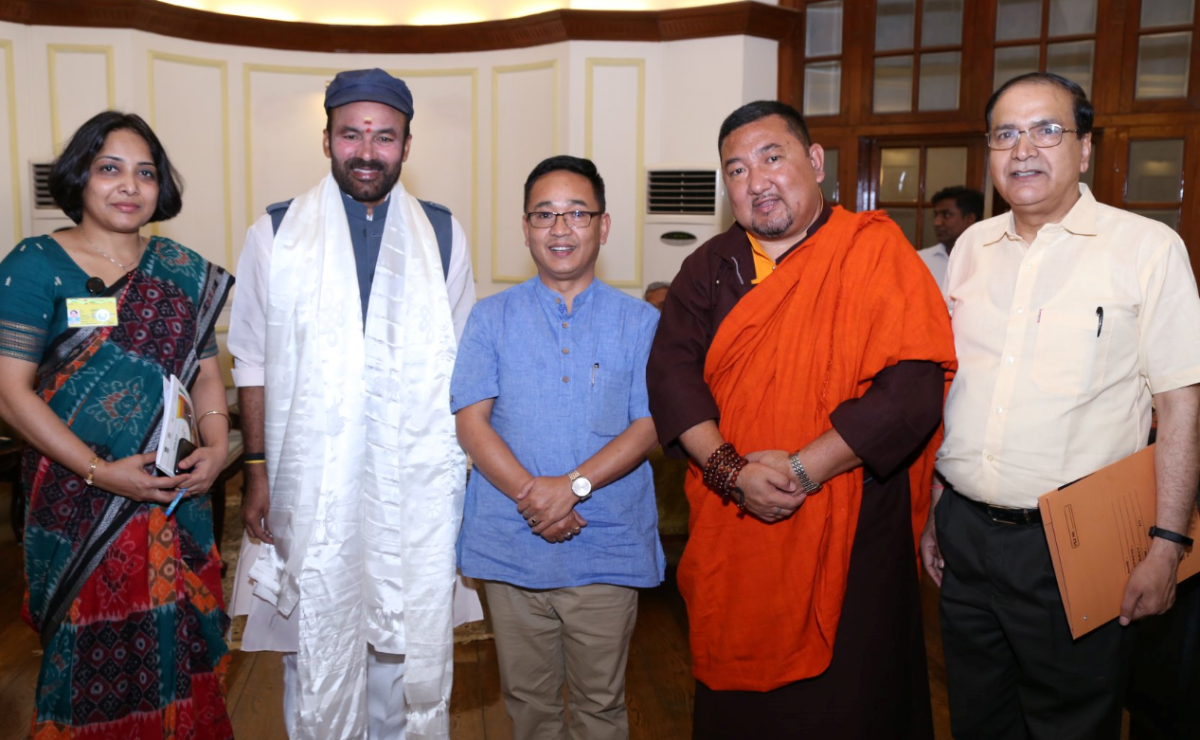 HON'BLE CHIEF MINISTER MEETS UNION HOME MINISTER OF STATE OF HOME AFFAIRS, SHRI G.KISHAN REDDY ON 11.06.2019