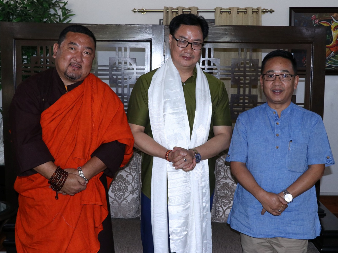 HON'BLE CHIEF MINISTER MEETS HON'BLE MOS(IC), YOUTH AFFAIRS AND SPORTS, SHRI KIREN RIJIJU ON 11.06.2019