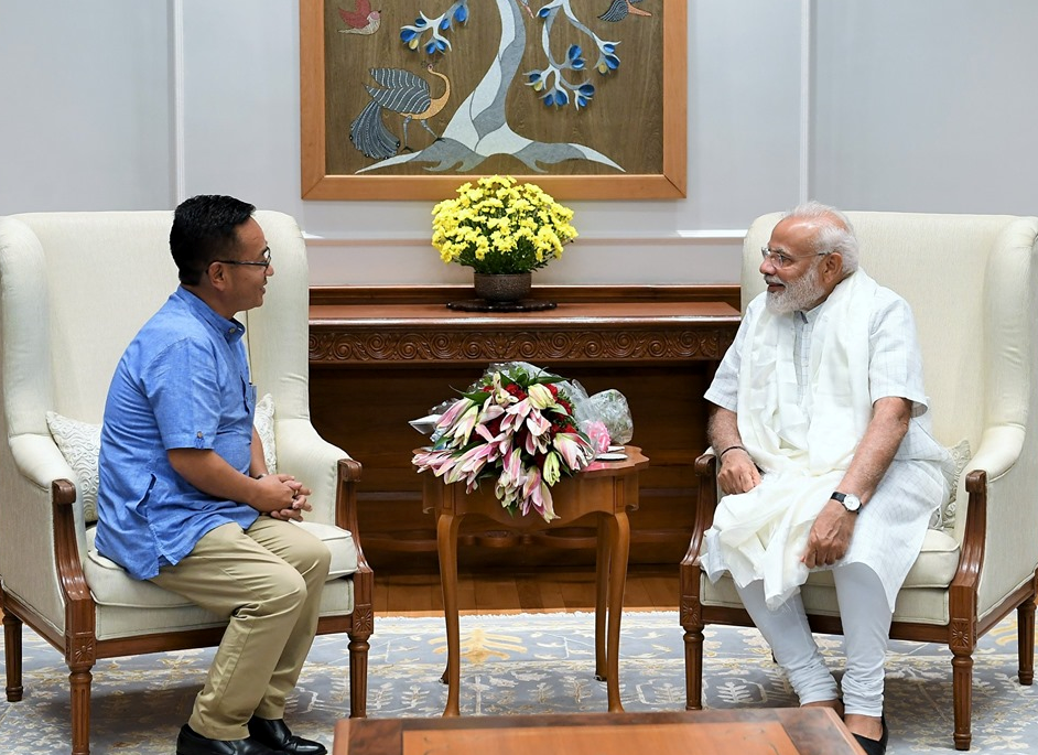 HON'BLE CHIEF MINISTER SHRI P.S GOLAY CALLED ON HON'BLE PRIME MINISTER SHRI NARENDRA MODI ON 11.06.2019