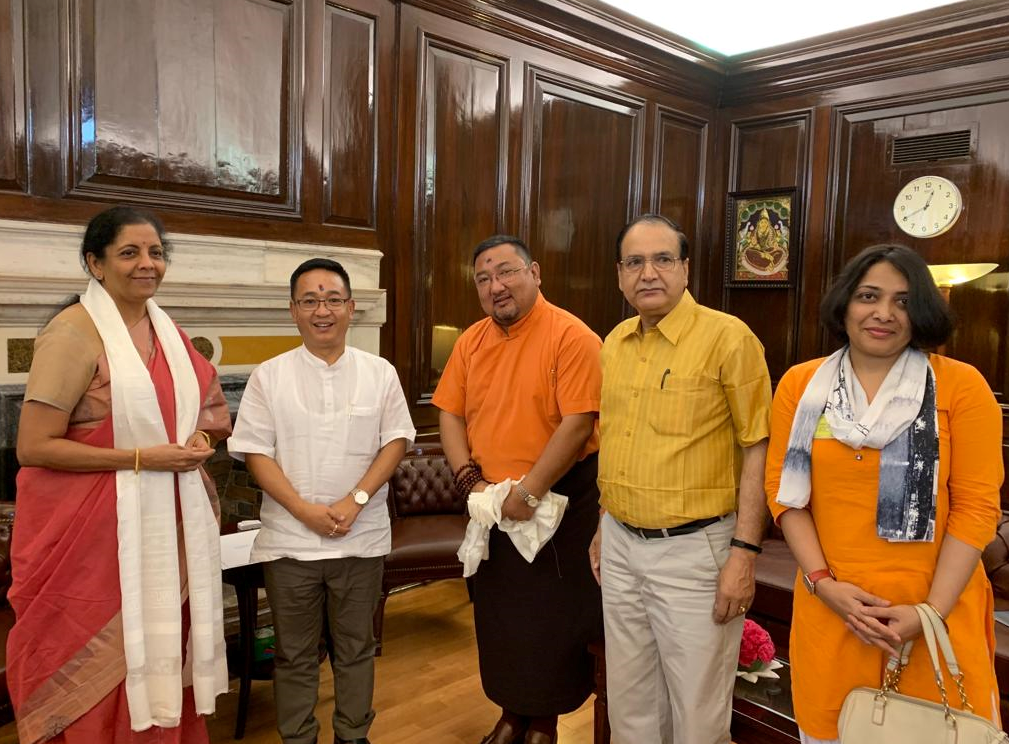 HON'BLE CHIEF MINISTER SHRI P.S GOLAY MEETS UNION FINANCE MINISTER SMT. NIRMALA SITHARAMAN ON 12.06.2019