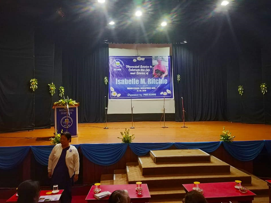 Memorial Service to celebrate the Life and Service of Isabelle M. Ritchie organised by PNGS Alumni AT MANAN KENDRA ON 30.05.2019