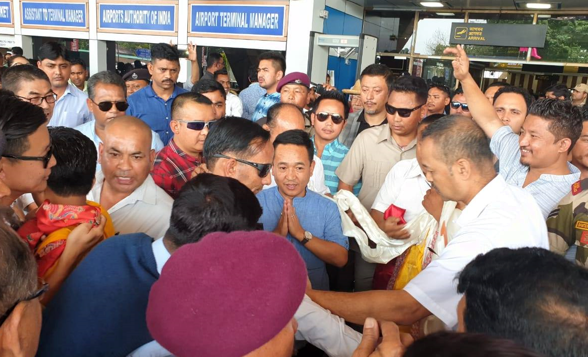THE HON'BLE CHIEF MINISTER OF SIKKIM SHRI P.S.GOLAY RETURNS FROM NEW DELHI AFTER ATTENDING THE SWEARING-IN CEREMONY OF HON'BLE PRIME MINISTER OF INDIA ON 1.06.2019