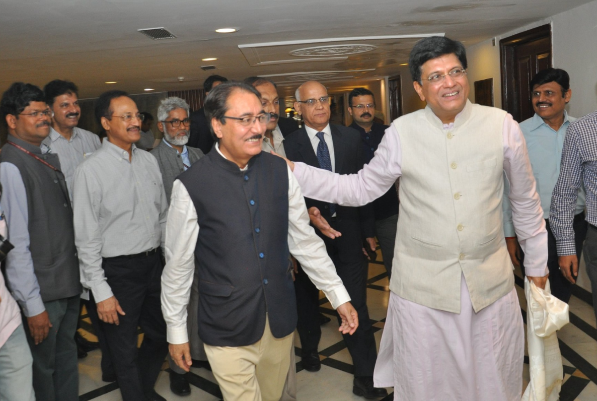 SHRI B.S PANTH HON'BLE MINISTER OF COMMERCE & INDUSTRIES DEPARTMENT ATTENDED A JOINT MEETING OF BOARD OF TRADE AND COUNCIL OF TRADE DEVELOPMENT AND PROMOTION AT ASHOKA HOTEL NEW DELHI ON 6.06.2019