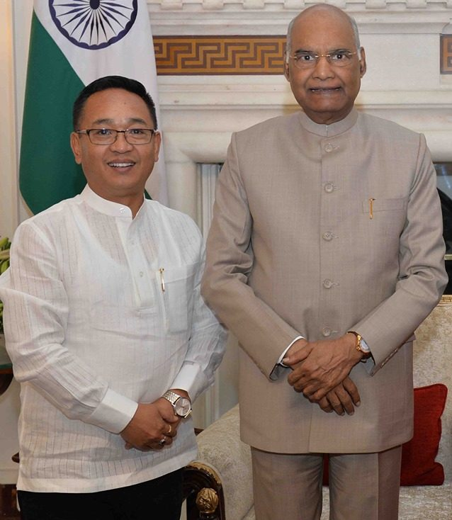 Hon'ble Chief Minister P.S. Golay meets Hon'ble President of India