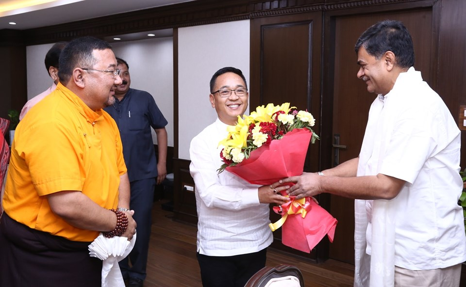 Hon'ble Chief Minister meets Union MoS (IC), New & Renewable Energy, Power
