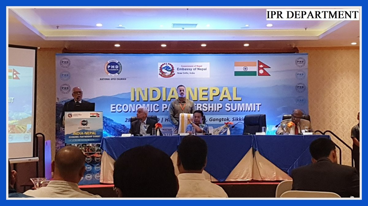 THE INDIA-NEPAL ECONOMIC PARTNERSHIP SUMMIT HAD THE PRESENCE OF THE HON'BLE CHIEF MINISTER SHRI P.S GOLAY ON 28.06.2019
