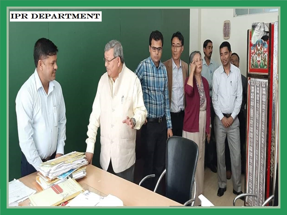 INSPECTION OF DISTRICT ADMINISTRATIVE CENTRE WAS DONE BY THE HON'BLE MINISTER LAND AND REVENUE DEPARTMENT SHRI KUNGA NIMA LEPCHA ANS SECRETARY SMT AMBIKA PRADHAN ON 16.07.2019