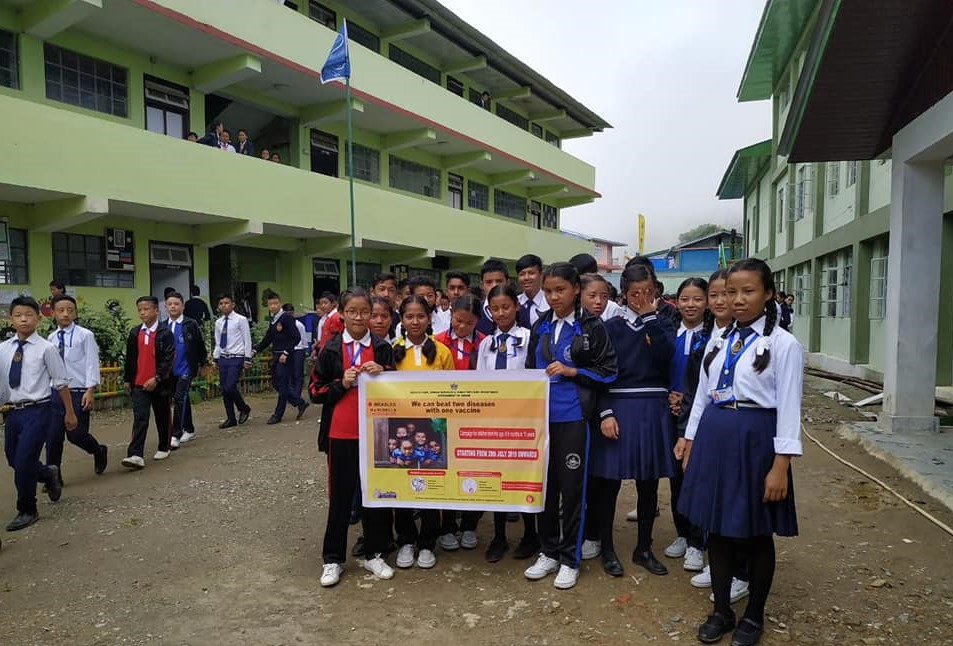 Launching of MR vaccination at PHCs in West district