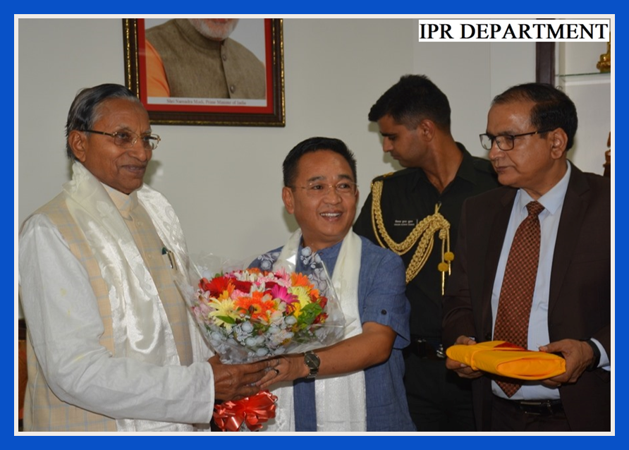 HON'BLE CHIEF MINISTER CALLS ON HON'BLE GOVERNOR ON HIS 83RD BIRTHDAY ON 8.07.2019