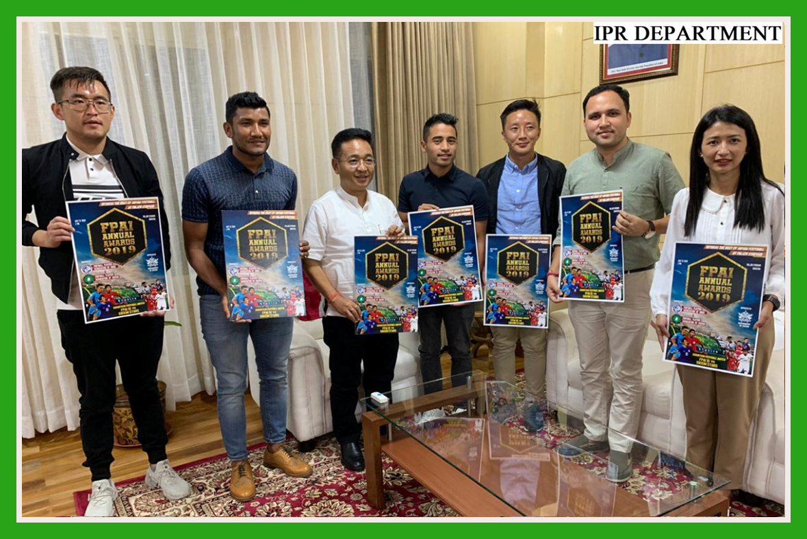ACCLAIMED INTERNATIONAL FOOTBALL PLAYERS CALLED ON THE HON'BLE CHIEF MINISTER SHRI. P.S GOLAY ON 10.07.2019